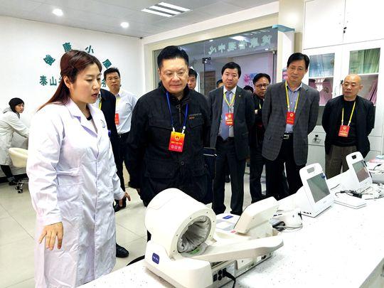 泰山人大代表团视察居民就医就学保障和人居环境改善情况