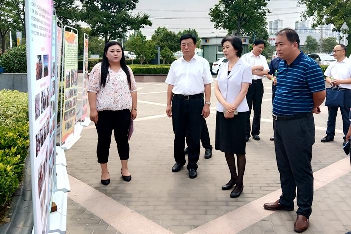 市人大常委会副主任李玉娟来我区视察两城同创复检工作